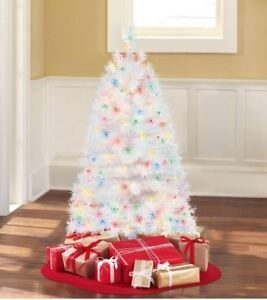 Pre-Lit 4' Indiana Spruce White Artificial Christmas Tree