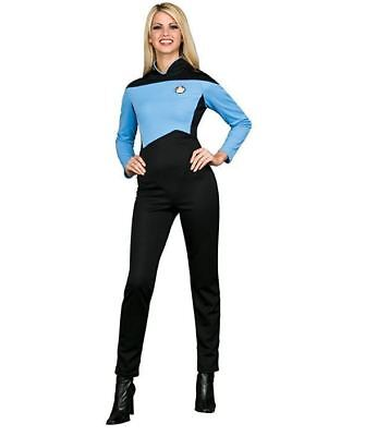 Rubie's Star Trek The Next Generation Womens Sciences Uniform Trekky Jumpsuit XS - Star Trek Womens Uniform