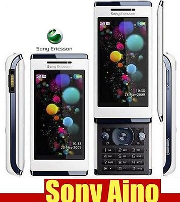 Sony Ericsson Aino Luminous white Unlocked QUADBAND,CAMERA,BLUETOOTH,CELLPHONE. Sony Ericsson Quad Band Phones