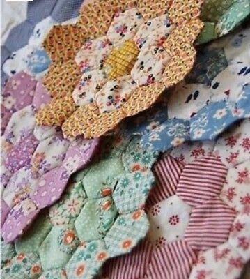 Grandmothers Flower Garden Pre-Cut Quilt -