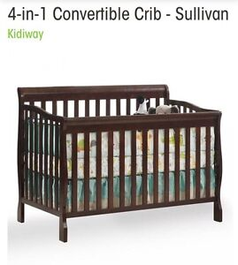 Crib, change table and bed conversion kit