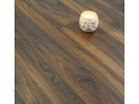 BRAND NEW 7 square metres rustic walnut 7mm thick v-groove click system laminate flooring y