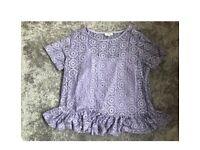 lilac crochet top