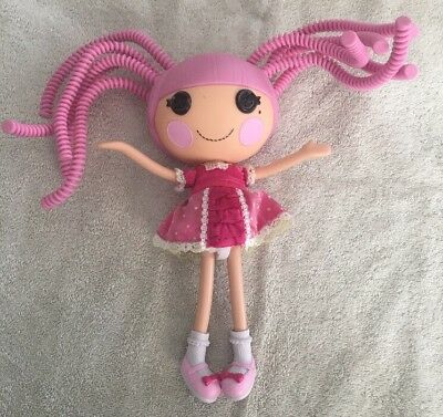"Lalaloopsy JEWEL SPARKLES Silly Hair 12"" Full Size Doll w/ Pink Babydoll Dress"