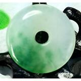 Chinese green jade Jadeite pendant necklace hand-carved