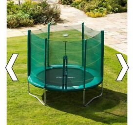 8ft trampoline with enclosure. Brand new