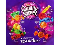 QUALITY STREET WHATS YOURE FAVOURITE IN FREE Victorian Style Sweet Storage Jars