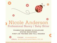 I'm looking for a nanny job and babysitting work??