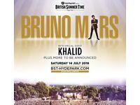 2X BST BRUNO MARS & KHALID TICKETS (14/07/18)
