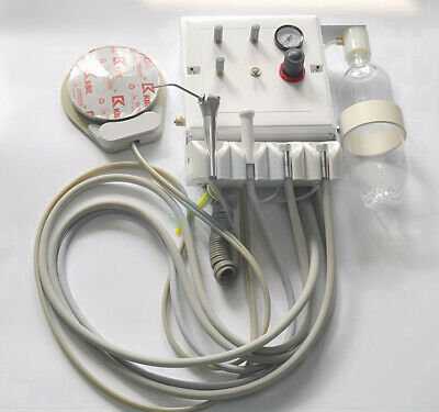 Dental Portable Turbine Unit Wall Type Weak Suction With 3 Way Syringe 2 Holes