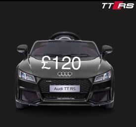 Kids Licensed Audi TTRS 12v Electric Ride on Car with parental control - Music & lights £120