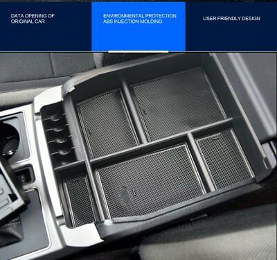 For Ford F-150 F150 2015-2018 Interior Armrest Storage Box Center Console Tray