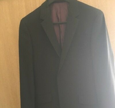Black Large Waistcoat And Blazer Purple Lining Formal Smart Wedding Business for sale  Shipping to South Africa