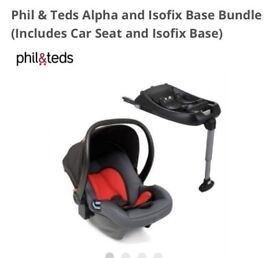 Phil & Teds Alpha car seat capsule & Isofix base