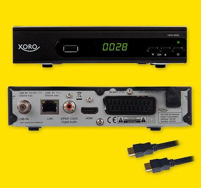 HD Sat Receiver Digital Xoro 8660 PVR FULL HD LAN TV HDMI USB SAT/Radio Full