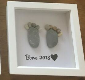 Born 2018 pebble art