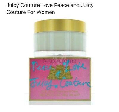 JUICY COUTURE ✌️Peace & ❤️ Love BODY CREAM New SEALED in Box 6.7oz/200m - Peace Body Cream