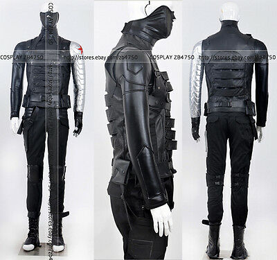 Captain America Winter Soldier Cosplay Costume Hallowen Clothing Any Size](Hallowen Clothes)