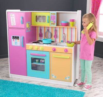 Kids Kitchen Playset Pretend Play Set Girls Cooking Large Big Toy Best Xmas