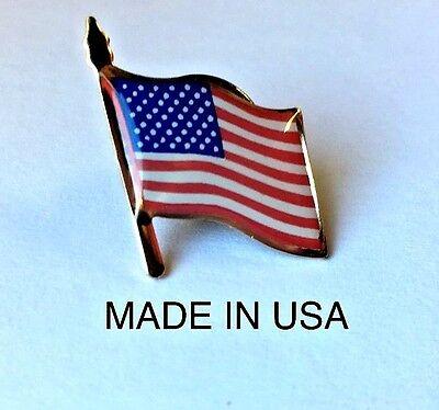 AMERICAN FLAG LAPEL PIN *MADE IN AMERICA* TRUMP USA PATRIOTIC - Flag Pin