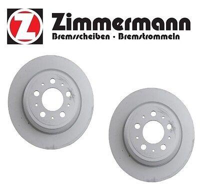For Volvo S80 S60 V70 1999-2009 Set of 2 Rear Disc Brake Rotors Zimmermann