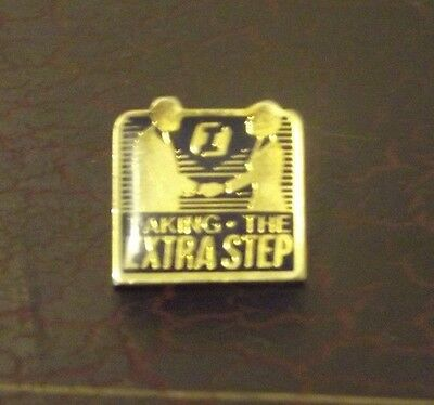 First Interstate Bank  Employee Award Taking Extra Step Lapel Pin Pinback