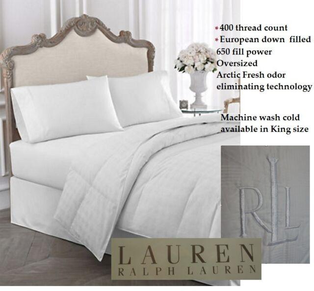 lauren ralph lauren king size 400 thread count cotton glen plaid down comforter