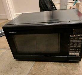 Black sharp microwave 800w