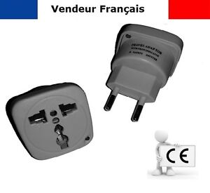 adaptateur voyage secteur prise anglaise uk vers fr france be belgique eu 5a ebay. Black Bedroom Furniture Sets. Home Design Ideas