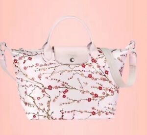 Last one!Longchamp limited edition Sakura white Crossbody tote