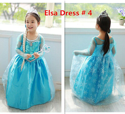 Купить Gorgeous Frozen Queen Elsa & Princess Anna Costume Cosplay Party Dress Up с доставкой по россии и снг