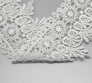 5-Yards-about-4-6M-White-Lace-Edge-Trim-3-1-8-wide