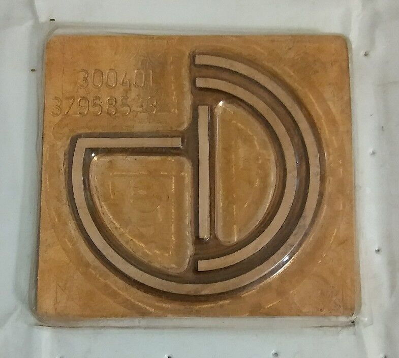 Global Cinematography Institute Solid Copper Stamp Plate, Logo, Printing Block