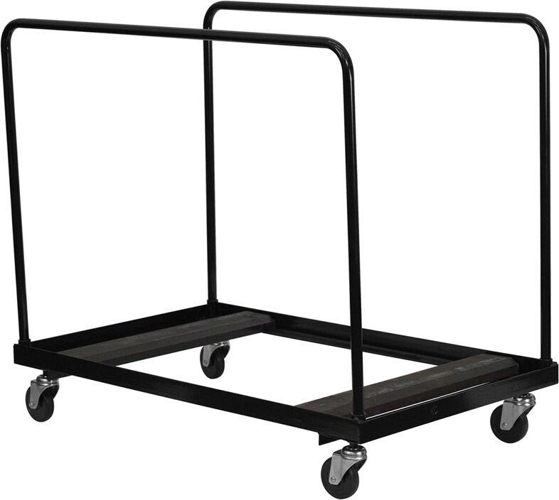 Round Folding Table Cart Dolly 8-10 Table Capacity