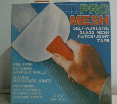 Custom Tapes Pro Mesh Drywall Tape 2 X 72 Self Adhesive Tape Patch Joint Fs
