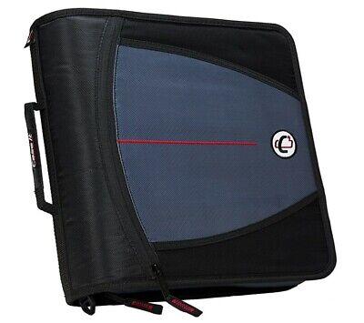 Case It Case-it Mighty Zip Tab 3 3-ring Zipper Binder Black
