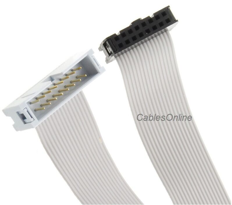 16-Pin (2x8) 2.54mm-Pitch Male/Female 16-wire IDC Flat Ribbon Extension