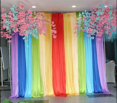 ON SALE !BEST 10'X13' Rainbow Curtain For Photo Background & Party Decor - Photo Decorations For Parties