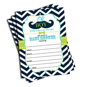 Mustache baby shower ebay 50 mustache oh boy baby shower invitations 5x7 filmwisefo