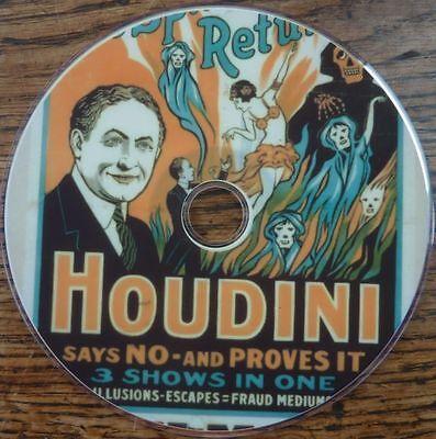Victorian Theatre Circus Magic Houdini posters 2000+ CD