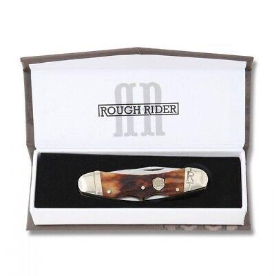 Double Lockback Pocket Knife Stag Bone Handle Free Shipping