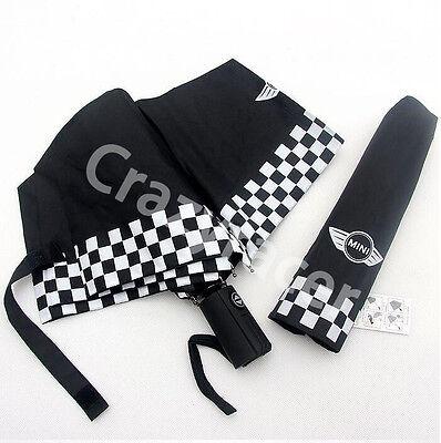 Black Automatic Folding Umbrella Leatheroid for BMW MINI