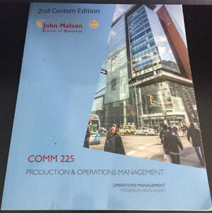 CONCORDIA COMM 225 Production and Operations Management 2nd Edit