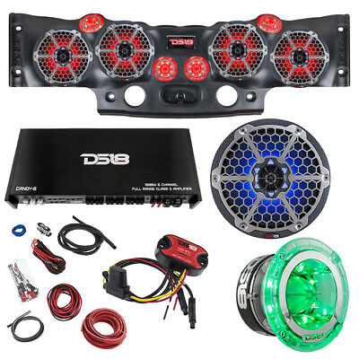 Jeep JK/JKU DS18 RGB LED Sound Bar Loud Speaker Tweeter Amp Audio System (Jeep Sound Systems)