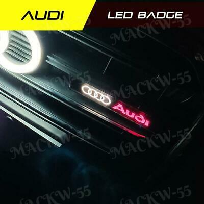 1x Audi Logo LED Light Car Front Grille Emblem Badge Illuminated Bumper Sticker