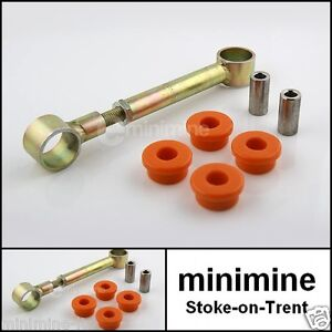 Classic Mini Adjustable Engine Steady Bar Kit with ORANGE Polyflex Bushes austin