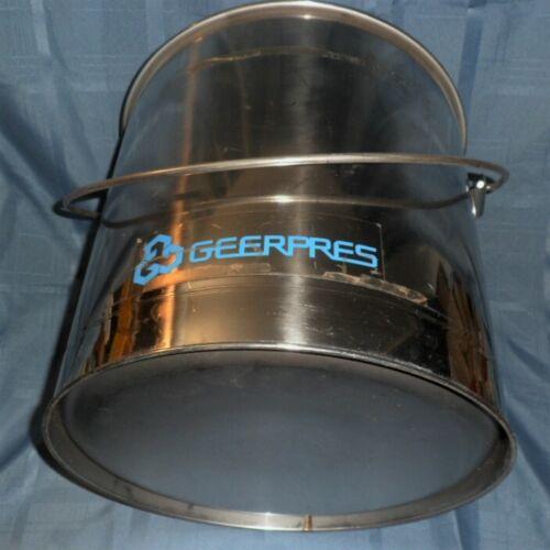 GEERPRES INDUSTRIAL GRADE STAINLESS STEEL MOP BUCKET 8 GAL.