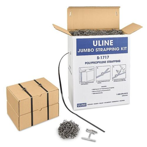 ULine Jumbo Strapping Kit S-1717 9000 Ft. Straps ~1000x Buckles