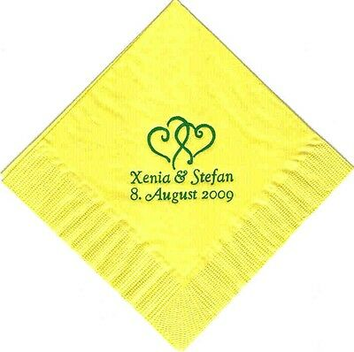 Personalized Dinner Napkins (200 PERSONALIZED  luncheon dinner NAPKINS WEDDING)