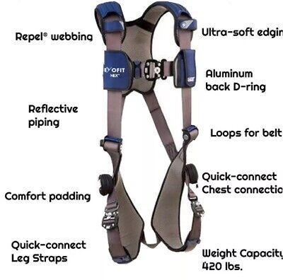 Choose Your Size - Dbi Sala Exofit Nex 3m Vest-style Safety Harness Small- Xxl